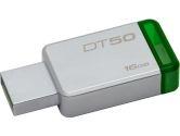 Kingston DT50/16GB CR 16GB USB 3.0 DataTraveler 50 METAL/GREEN Flash Memory (Kingston: DT50/16GBCR)