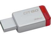 Kingston DT50/32GBCR 32GB USB 3.0 DataTraveler 50 METAL/RED Flash Memory (Kingston: DT50/32GBCR)