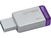 Kingston DT50/8GBCR 8GB USB 3.0 DataTraveler 50 METAL/PURPLE Flash Memory (Kingston: DT50/8GBCR)