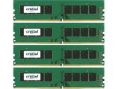 Crucial 32GB Kit 4X8GB DDR4-2400 UDIMM PC4-19200 CL17 Single Ranked 1.2V Unbuffered 288PIN Memory (CRUCIAL TECHNOLOGY: CT4K8G4DFS824A)