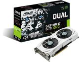 ASUS GeForce GTX 1070 OC DUAL-FAN 8GB GDDR5 1582/1771 MHz HDMI VR Ready G-SYNC SLI Video Card (ASUS: DUAL-GTX1070-O8G)