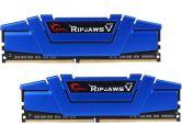 G.SKILL Ripjaws V 16GB  DDR4-2400 CL15-15-15-35 1.2V 288PIN Dual Channel Memory Kit - Blue (G.Skill: F4-2400C15D-16GVB)