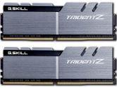 G.SKILL Trident Z 16GB  DDR4-3200 CL16-18-18-38 1.35V 288PIN Memory Kit - Silver / Black (G.Skill: F4-3200C16D-16GTZSK)