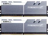 G.SKILL Trident Z 16GB  DDR4-3200 CL16-18-18-38 1.35V 288PIN Memory Kit - Silver / White (G.Skill: F4-3200C16D-16GTZSW)