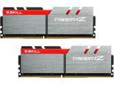 G.SKILL Trident Z 32GB  DDR4-3200 CL16-18-18-38 1.35V 288PIN Memory Kit - Silver / Red (G.Skill: F4-3200C16D-32GTZ)