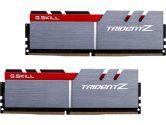 G.SKILL Trident Z 16GB  DDR4-3200 CL14-14-14-34 1.35V 288PIN Memory Kit - Silver / Red (G.Skill: F4-3200C14D-16GTZ)