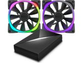 NZXT HUE+ & Aer RGB140 Fans Bundle Pack RGB 2x 140mm Aer Fans Included (NZXT: RF-AR140-C1)