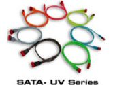 """Thermaltake 18"""" XRound Red SATA-UV 2-Head ( S-ATA 150 ) Cable Model A2095 (Thermaltake Technology: A2095)"""