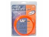 Vantec Cable Sleeving Kit Red UV Reactive (VANTEC: CSK-80UV-RD)