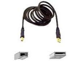 Belkin Gold Series USB2.0 Device Cable (A/B) Black Color- 16 feet (Belkin Components: F3U133-16-GLD)