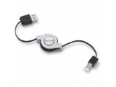 Belkin Rectractable Hi-Speed USB 2.0 Cable A-B 2.6ft (Belkin Components: F3U133V03-RTC)