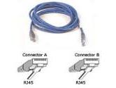 Belkin UTP Cable  RJ-45 /RJ-45 (Belkin Components: A3L791-10-BLU)