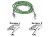 Belkin 10ft 10/100BT CAT5 Patch RJ45M/RJ45M Green (Belkin Components: A3L791-10-GRN)