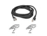 Belkin 10ft 10/100BT CAT5 Patch RJ45M/RJ45M Black Snagless (Belkin Components: A3L791-10-BLK-S)
