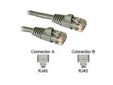 Cables To Go 3ft 350MHz CAT5e Patch 4PR Molded Snagless Gray (Cables to Go: 15177)