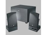 Cyber Acoustics CA-3001 3-Piece Subwoofer and Satellite Speaker System (Cyber Acoustics: CA-3001)