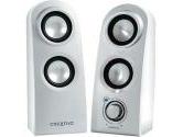 Creative SBS Vivid 80 Mini Speakers Silver 6W RMS (51MF1525AA010) (Creative Technology: 51MF1525AA010)