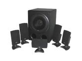 CYBER ACOUSTICS CA-5001RB 5.1 6 PIECE SURROUND SOUND SUBWOOFER SATELLITE SPEAKER SYSTEM 80 WATTS (Cyber Acoustics, LLC: CA-5001RB)