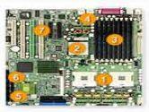 Supermicro EATX MBD E7520 EM64T 800 MARV 8X SATA 2X GETH VGA (SUPER MICRO Computer: X6DHT-G)