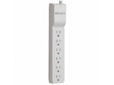 Belkin / 6-Outlet 720 Joules Surge Protector with 360° Rotating Plug (Belkin Components: BE106000-08R)