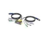 IOGEAR GCS612A 2-Port PS/2 KVM switch build-in cables and audio support (IOGEAR: GCS612A)