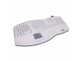 Adesso Tru-Form Pro Contoured Ergonomic Keyboard with Built-in Touchpad and Hot Keys - White (Adesso: PCK-308W)