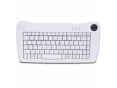 Adesso Mini USB Keyboard with Trackball - White (ADESSO: ACK-5010UW)
