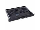 Adesso 1U Rackmount Drawer Keyboard w/Touchpad Black PS2 Connector (Adesso: ACK-730PB-MRP)