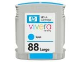 HP 88 Large Cyan Ink Cartridge For the Officejet Pro K550 Series EAS - Sensormat (Hewlett-Packard: C9391AN#140)