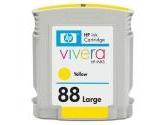HP 88 C9393AN Yellow Large Ink Cartridge For Officejet Pro K550 - Retail (Hewlett Packard: C9393AN#140)