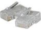 Cables Unlimited Cables To Go Cables To Go  100PK MOD PLUG RJ45 8P8C FOR FLAT SILVER SATIN CBL