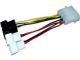 Zalman ZM-MC1 4-Pin Molex to 3-Pin 12V/5V Power Adapter Cable For Fan - OEM