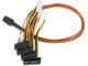 3WARE SFF-8087 to SFF-8482 Forward SAS Breakout Cable with Power Connectors 0.6M