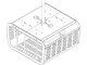 SECUR ENCL F/PRJCTRS 11 TALL X 20 WD-WHT