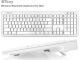 Macally BTKey - Keyboard - ice white