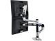 ERGOTRON 45-248-026 LX Dual Stacking Arm Desk Mount - Extends LCDs or laptop up to 25