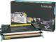 Lexmark Yellow High Yield Return Program Toner Cartridge - Laser - 10000 Page - Yellow