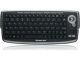 IOGEAR GKM681R Black RF Wireless Keyboard with Optical Trackball and Scroll Wheel