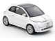 Fiat 500NEW Pearl White Wireless Cick Car Mouse